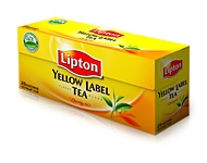 "Melnā tēja ""Lipton Yellow Label Tea"" 25 maisiņi (50 grami)"