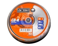 "CD-R matricas ""Acme"" 10 gab. × 700 MB (80 min, 52x)"