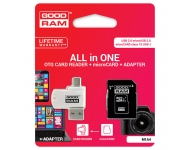 Goodram MicroSDHC 128GB Class 10 UHS I + Card reader + adapter